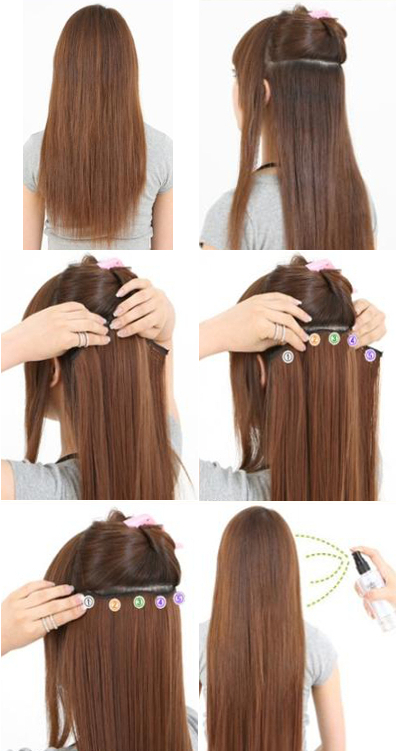 popular one piece clip in hair extensions clip hair extensions