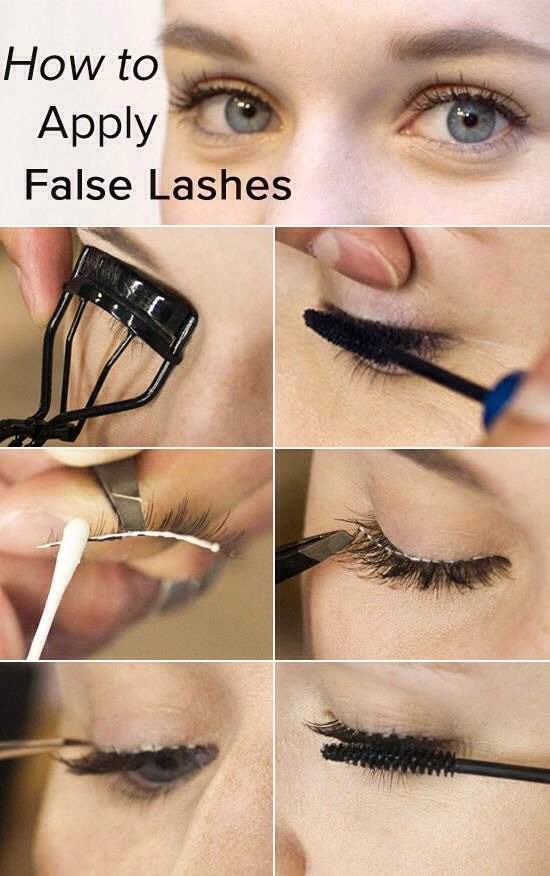 How To Apply False Eyelashes Clip Hair Extensions