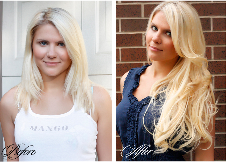 Before And After Photos Clip Hair Extensions