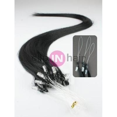 Vlasy pro metodu Micro Ring   Easy Loop   Easy Ring   Micro Loop 40cm –  černé 4f49e60d304