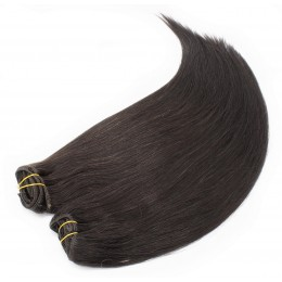 20 inch (50cm) Deluxe clip in human REMY hair - natural black