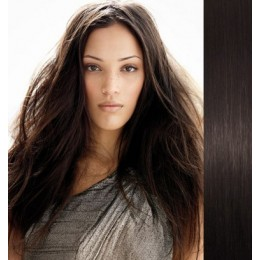 28 inch (70cm) Clip in human REMY hair - natural black