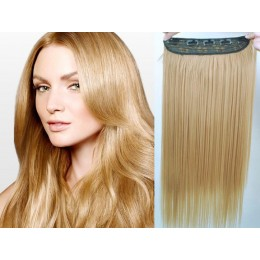 20 inches one piece full head 5 clips clip in hair weft extensions straight – light brown