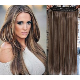 20 inches one piece full head 5 clips clip in hair weft extensions straight – platinum blonde